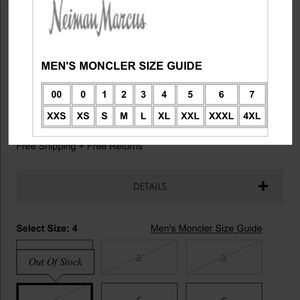 Reduced Moncler Size Guide For Mens Jackets 4d791 32d1c